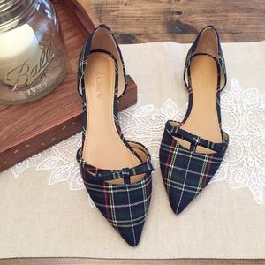 J. Crew Tartan Plaid D'orsay Flat With Bow